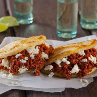 Beef Chorizo and Panela Arepas